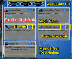Magic Girls-Token Academy Simulated Battle screenshot 12